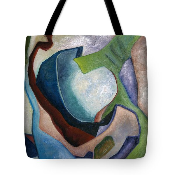 1319 Partial Recall Tote Bag by AnneKarin Glass
