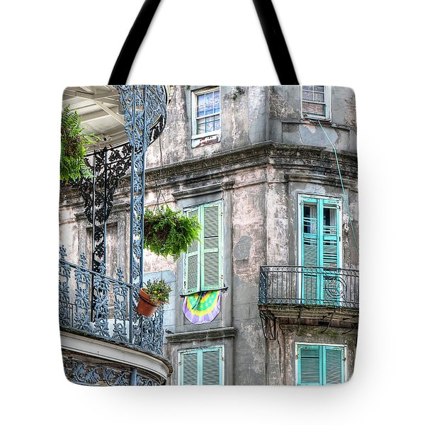 1358 French Quarter Balconies Tote Bag