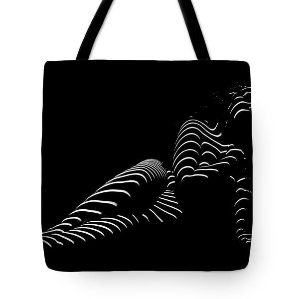1370-tnd Zebra Woman Striped Woman Black And White Abstract Photo By Chris Maher Tote Bag