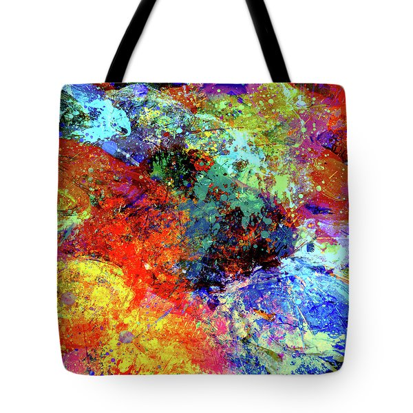 Tote Bag featuring the painting Abstract Composition by Samiran Sarkar