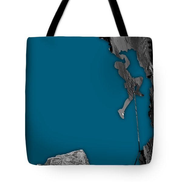 Rock Climber Collection Tote Bag by Marvin Blaine
