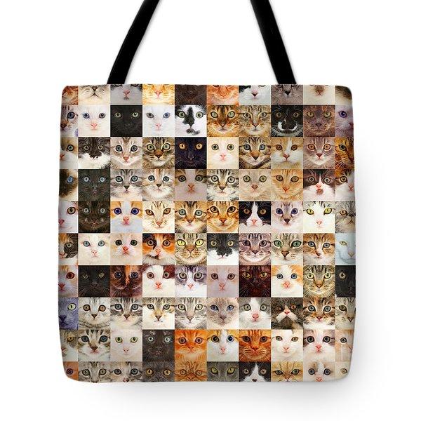 140 Random Cats Tote Bag