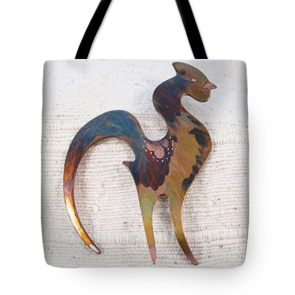 1400 Blue Gold Rooster Tote Bag