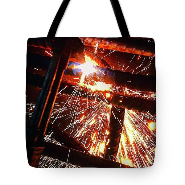 Blue Collar Bright Tote Bag