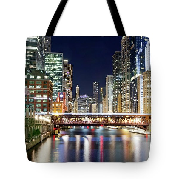 1433 Chicago River Tote Bag