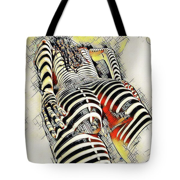1457s-ak Rear View Nude Erotica In The Style Of Kandinsky Tote Bag