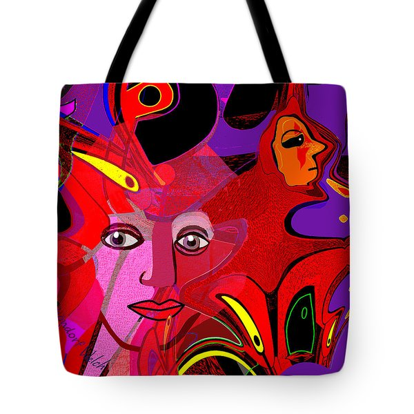 1480 - Fractal Light  2017 Tote Bag by Irmgard Schoendorf Welch