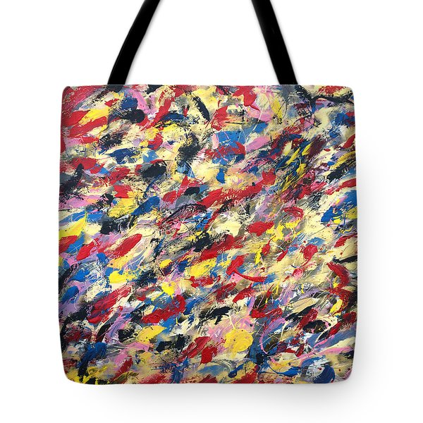 14k Gold Abstract Painting 48x60 Print Tote Bag
