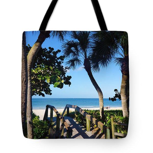 14th Ave S Beach Access Ramp - Naples Fl Tote Bag