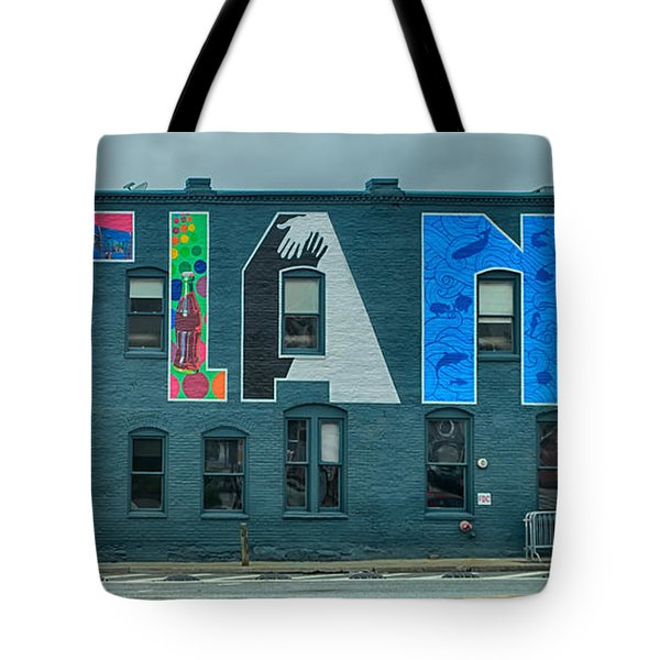 Atlanta Downtown Skyline Scenes In January On Cloudy Day Tote Bag