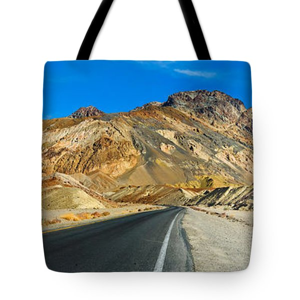Road Passing Through A Landscape Tote Bag