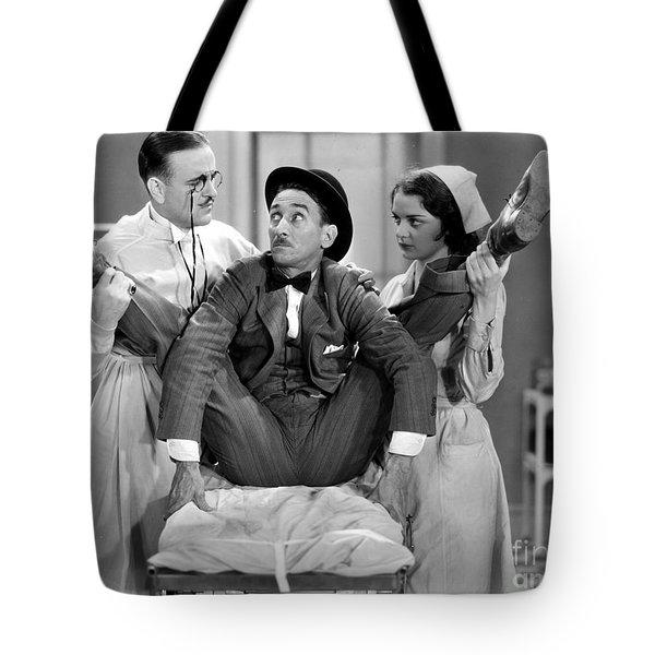 Silent Film Still: Doctor Tote Bag by Granger