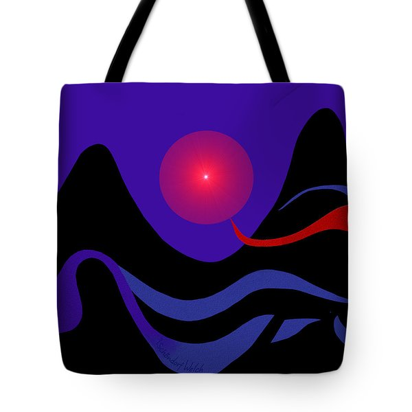 1536 - Red Mountain Sun -  2017 Tote Bag by Irmgard Schoendorf Welch