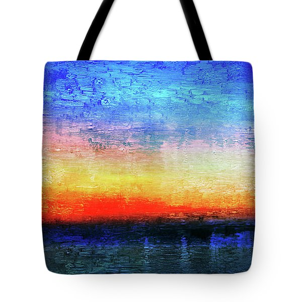 15a Abstract Seascape Sunrise Painting Digital Tote Bag