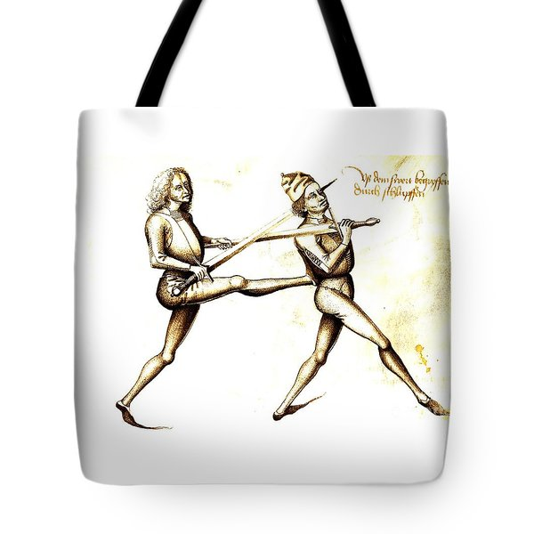Tote Bag featuring the painting 15th Century Drawing by Pg Reproductions