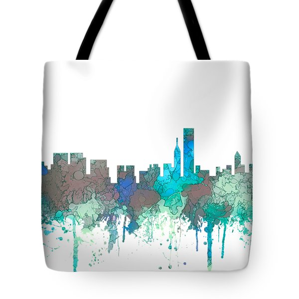 Tote Bag featuring the digital art Chicago Illinois Skyline by Marlene Watson