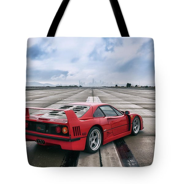 Tote Bag featuring the photograph #ferrari #f40 #print by ItzKirb Photography