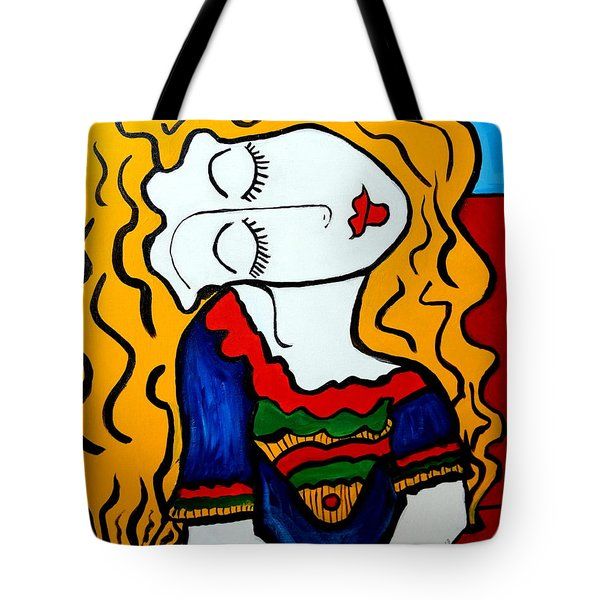 Shy Girl Picasso By Nora Tote Bag