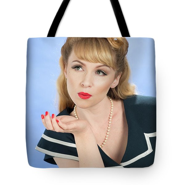 Pin Up Girl Tote Bag