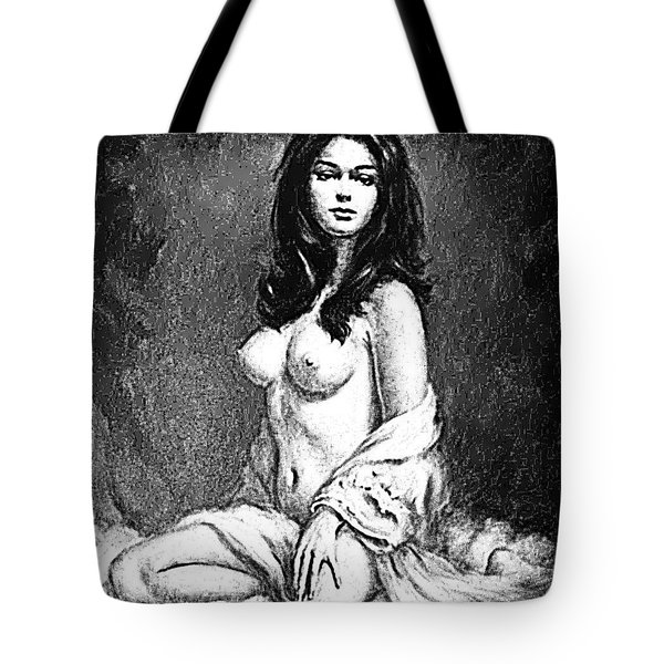 Tote Bag featuring the digital art Pinup by ReInVintaged