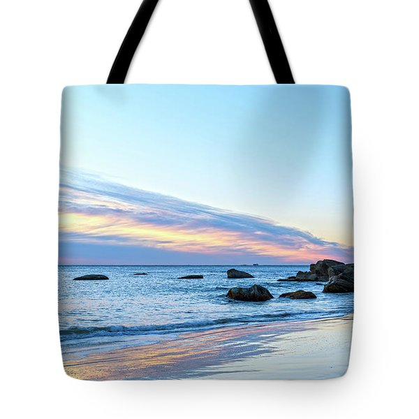 Rocky Daybreak Seascape Tote Bag