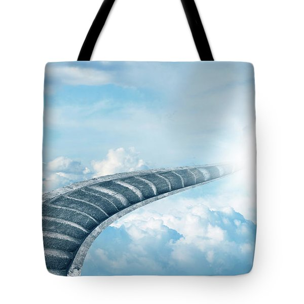 Tote Bag featuring the digital art Stairway To Heaven by Les Cunliffe
