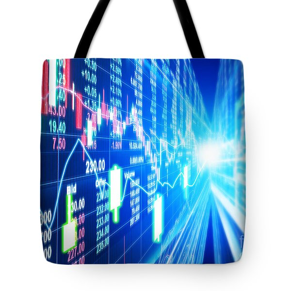 Tote Bag featuring the photograph Stock Market Concept by Setsiri Silapasuwanchai