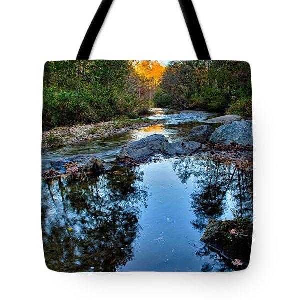 Stone Mountain North Carolina Scenery During Autumn Season Tote Bag