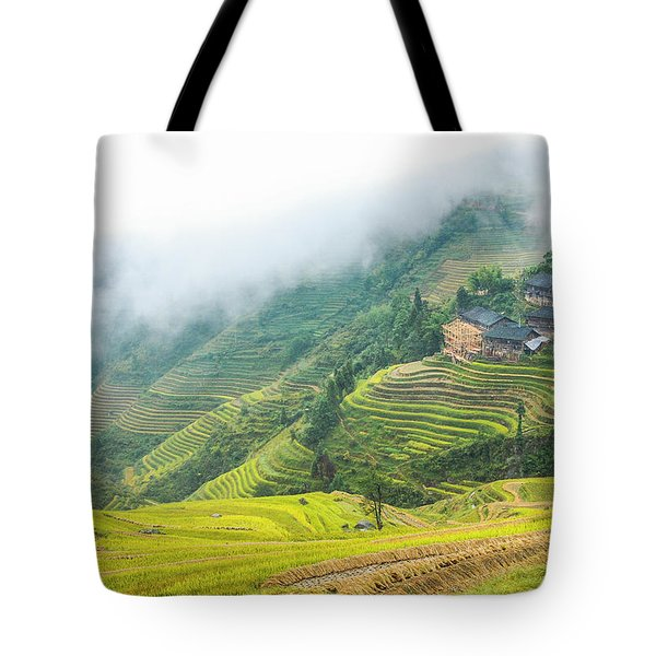 Tote Bag featuring the photograph Terrace Fields Scenery In Autumn by Carl Ning