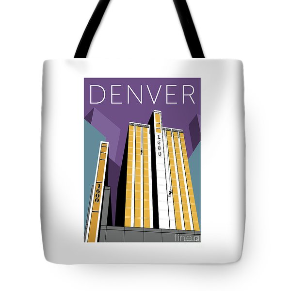 Tote Bag featuring the digital art 1600 Glenarm - Purple by Sam Brennan