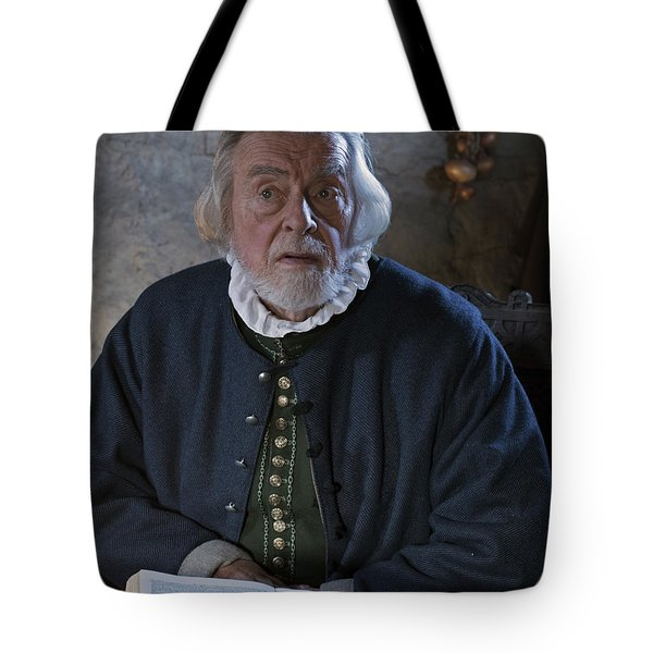 Tote Bag featuring the photograph 1600's Pilgrim by Stephen Flint