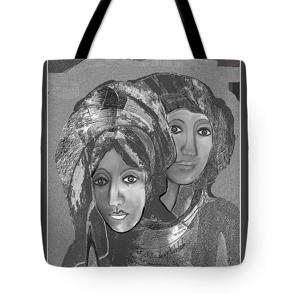Tote Bag featuring the digital art 1667 - The Sisters by Irmgard Schoendorf Welch