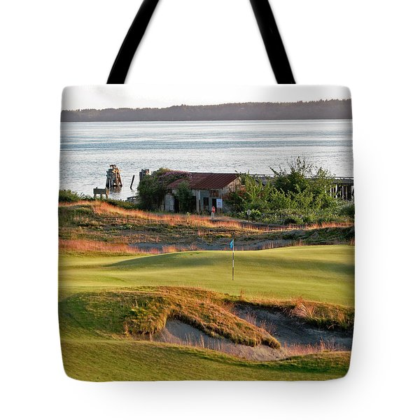 Tote Bag featuring the photograph 17 - Chambers Bay Golf Course by Chris Anderson