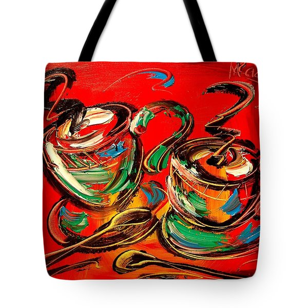 Coffee Tote Bag by Mark Kazav