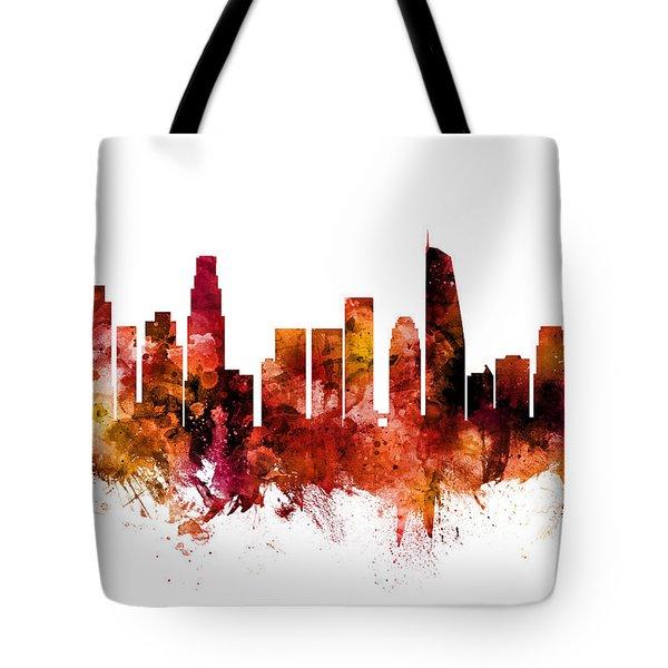 Los Angeles California Skyline Tote Bag