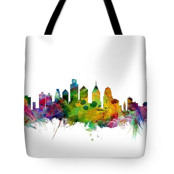 Philadelphia Pennsylvania Skyline Tote Bag by Michael Tompsett