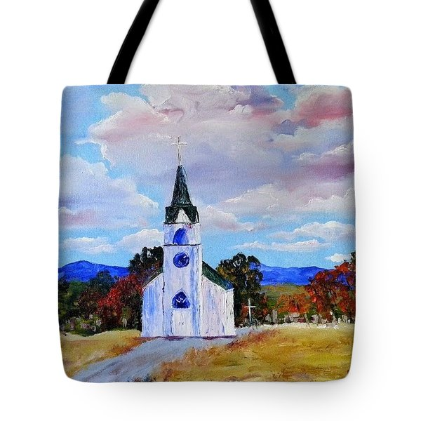 #17 St. Johns Historic Church On Hwy 69 Tote Bag
