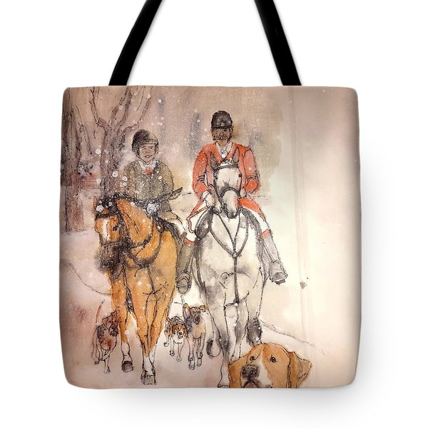 Tote Bag featuring the painting Talley Ho  Album by Debbi Saccomanno Chan