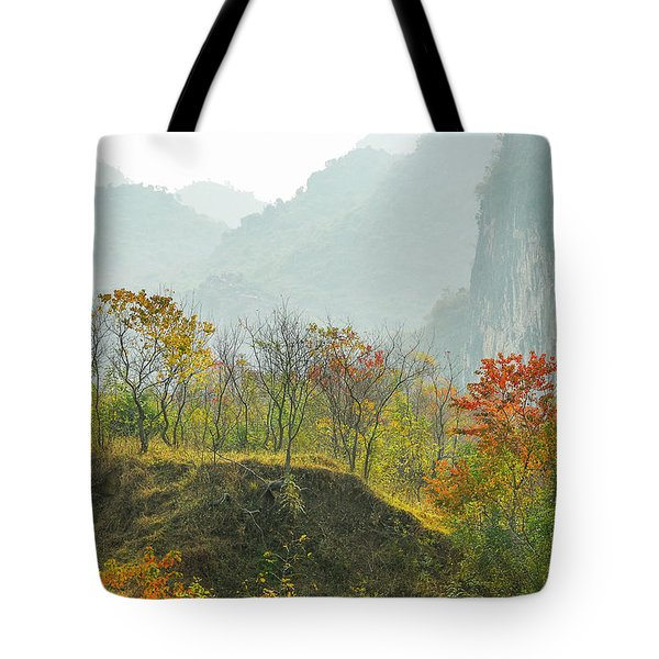 Tote Bag featuring the photograph The Colorful Autumn Scenery by Carl Ning