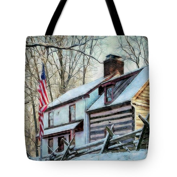 1700's Log House In West Chester, Pa Tote Bag