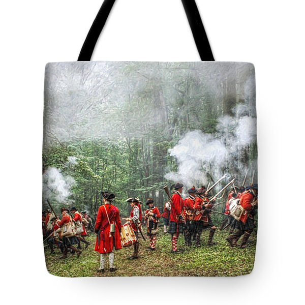 1763 Bushy Run British Counterattack Tote Bag by Randy Steele