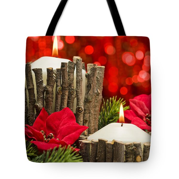 Tote Bag featuring the photograph Autumn Candles by Ulrich Schade