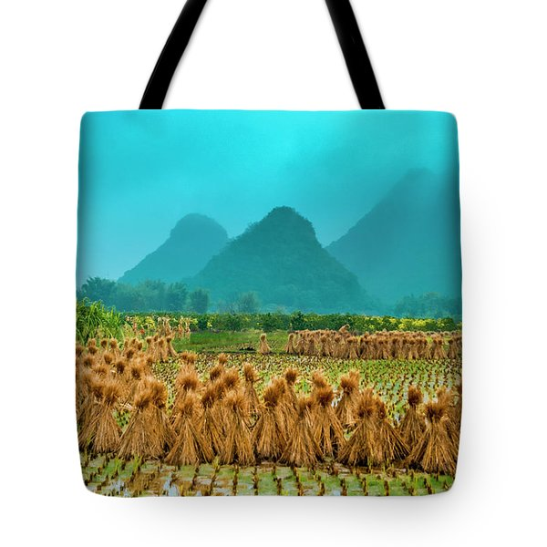 Beautiful Countryside Scenery In Autumn Tote Bag
