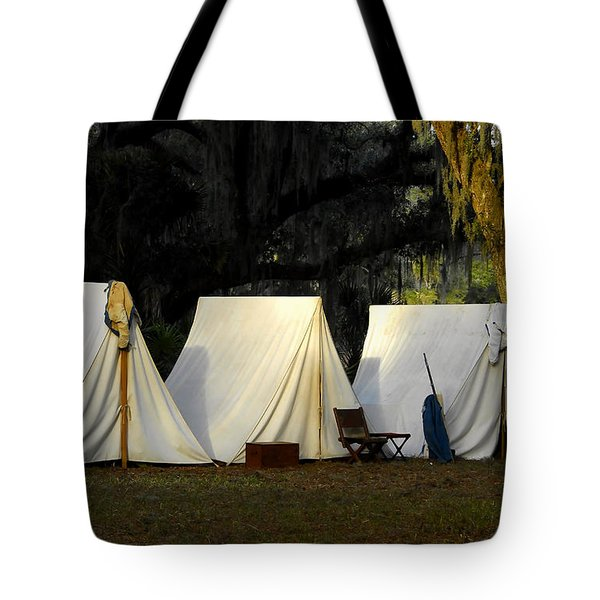 1800s Army Tents Tote Bag by David Lee Thompson