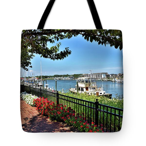 Tote Bag featuring the photograph 1812 Memorial Park - Lewes Delaware by Brendan Reals