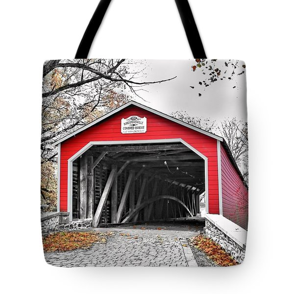 Tote Bag featuring the photograph 1839 Kreidersville Bridge by DJ Florek