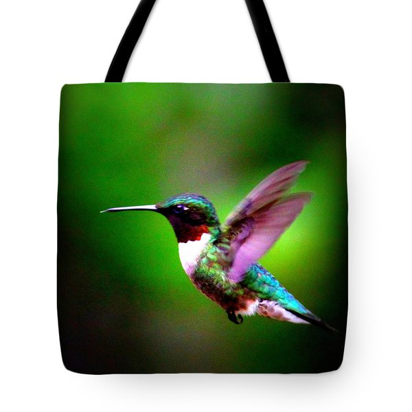 1846-007 - Ruby-throated Hummingbird Tote Bag