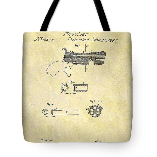 1857 Colt Revolver Design Tote Bag