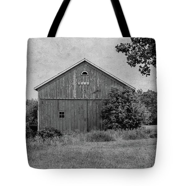 Tote Bag featuring the photograph 1869 Black And White by Kim Hojnacki