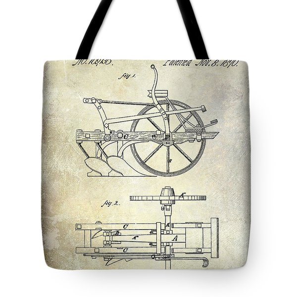1870 Plow Patent Tote Bag